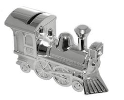 Silver Plate Locomotive Money Box