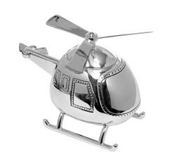 Silver Plate Helicopter Money Box