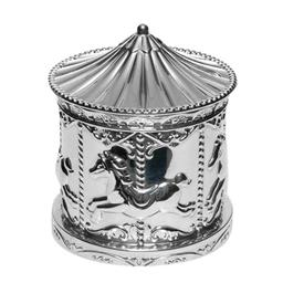 Silver Plate Carousel Money Box