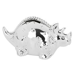 De Luxe Silver Plate Dinosaur Money Box