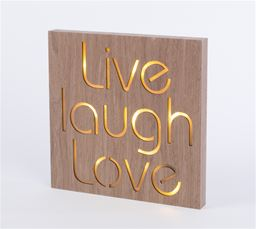 Live Laugh Love LED Plaque