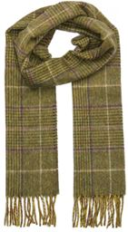 L&S Scarf - Boxed Glen Check - Green