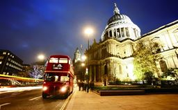 London Bus & St Pauls LED Canvas