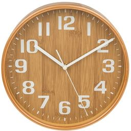 11 inch Chic Kitchen Clock Bamboo