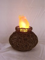 Artificial Flame Lighting Low Vase