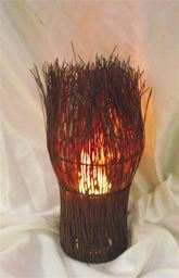 Artificial Flame Lighting Bushy Vase