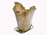 Brown Marble Effect Lamp 35cm