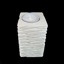 Large Jagged Pillar Candle Holder