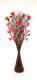 Red Carnation with Brown Wave Floor Standing Vase