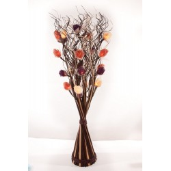 Autumn Mix Rose Brown and White Table Top Vase