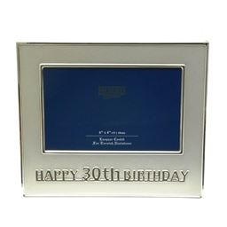 Silver Plate Classic 30th Birthday Frame
