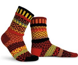 Fire Adult Mis-matched Socks - Small 4-6