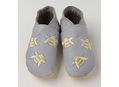 DR00000-76 Embroidered Bees on Grey 0-6 Mths