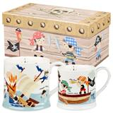 CHBS00000-12 Pirate Two Mug Set Gift Box