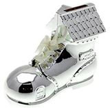 MB00000-20 Silver Plate Old Womans Shoe Money Box