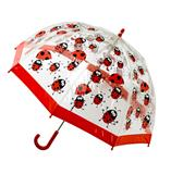 UBB00000-15 PVC Clear Dome Umbrella Ladybird