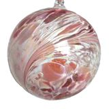 SGW00000-12 Sienna Glass Friendship Ball 10cm Its a Girl Pink