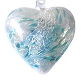SGW00000-17 Sienna Glass Friendship Heart 8cm Pastel Blue