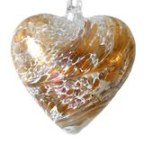 SGW00000-19 Sienna Glass Friendship Heart 8cm Pastel Gold