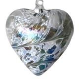 SGW00000-20 Sienna Glass Friendship Heart 8cm Pastel Silver