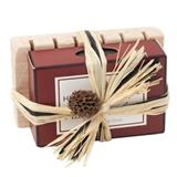 HW00000-14: Mens Oatmeal & Spice Soap on a Large Soap Saver (raffia tied)