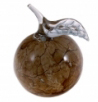 A00000-18: Light Brown Marble Effect Apple Paperweight
