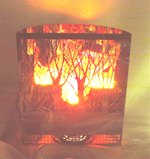 LX00000-05 Artificial Flame Lighting Forest Firebox