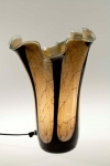 A00000-11 Brown Marble Effect Lamp with Black Thread 35cm