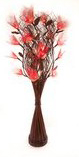 Z00000-19: Red Bodhi Leaf Table Top Vase