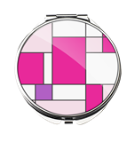 M00000-21 Pink Squares - Compact Mirror
