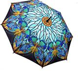 UBB00000-10: Stained Glass Butterfly Folding Umbrella (gift boxed)