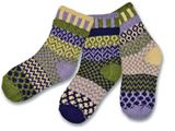 SS00000-93: Caterpillar Kids Mis-matched Socks 6-8 years